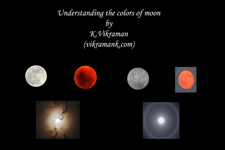 Colors of moon by K.Vikraman