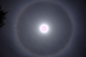 Moon 22 degree halo