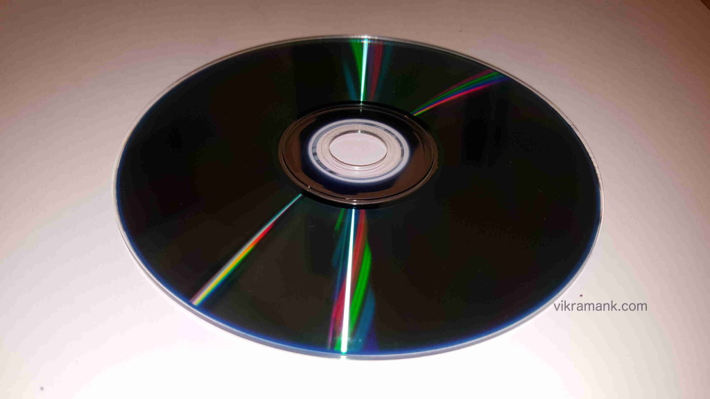 Colours exhibited by a CD due to diffraction